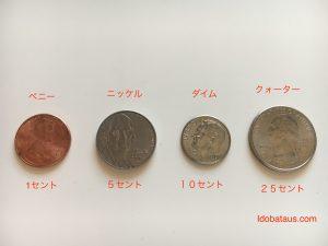アメリカ、お金、コイン、小銭、種類