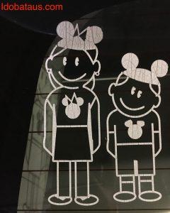 ファミリーステッカー ディズニー アメリカ お土産 雑貨