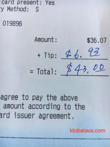 レストラン チップ 払い方